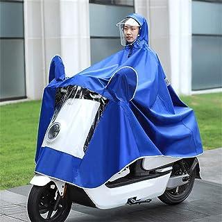 Gshhd88 Pioggia Poncho per Adulti Antivento Ciclismo Impermeabile Motocicletta Scooter Felpa con Cappuccio Cappotto Donna Uomo Cover Mantella Indumenti Completo Protezione Visiera /& Riflettente Strip