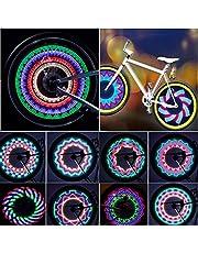 Wodoszczelne światła do felg rowerowych z 32 diodami LED i 32 wzorami zmian do opon MTB
