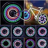 Fahrradräder beleuchten wasserdichte Fahrradfelgenlichter/Speichenlichter mit 32 LED- und 32...