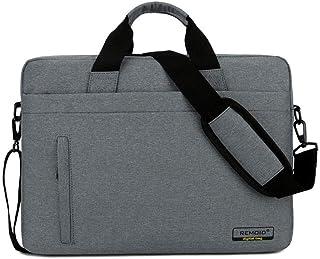Djyyh Laptop Bag,Luggage Shoulder Business Computer Bag,Gift Bag Briefcase Insurance Bag,Color/Size Selectable (Color : Gray, Size : 14inch)