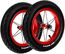 Pair for Strider 12 inches Balance Bike Upgrade Racing Replacement Wheel Set, Aluminum Alloy Wheels and Pneumatic Tires