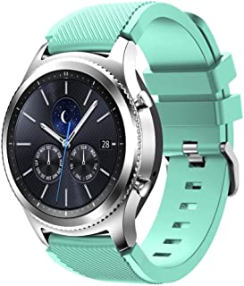 BarRan Twill Watchband replacement for Galaxy Watch 46mm, 22mm Soft Silicone Quick Release Sport Watch Strap compatible wi...