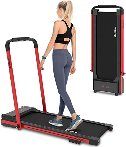 REDLIRO Under Desk Treadmill 2 in 1 Walking Machine Portable Space Saving Fitness Motorized Folding Treadmill Electri...