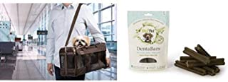 Sherpa Travel Original Deluxe Airline Approved Pet Carrier, Large Brown and OlvitPet Large Denta Bar Treats