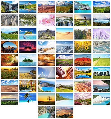 Edition Seidel Set 50 Premium Postkarten Landschaften Natur Meer Berge Wälder Täler Karten Postkarte (20350)