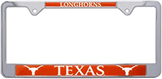 AMG Auto Emblems All Metal NCAA UT Longhorns Mascot License Plate Frame (Texas)