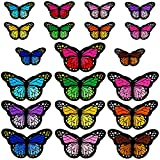 20pcs Butterfly Iron on Patches, 2 Size Embroidered Sew Applique Repair Patch(Small+Large)