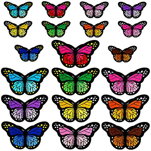 Embroidery Applique Repair Patch in Different Styles Butterfly Iron on Patches 36Pcs