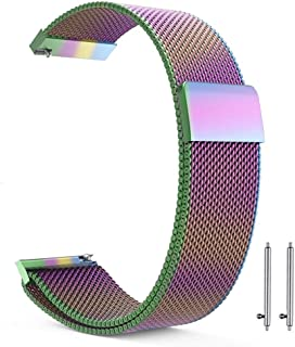 22mm Milanese Loop Watch Band Magnetic Closure Mesh Stainless Steel Replacement Strap for Samsung Gear S3 Frontier / S3 Classic/Huawei Watch 2 Classic - Multicolor