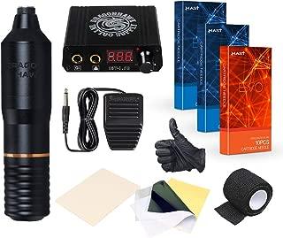 Dragonhawk Tattoo Kit Pen Rotary Tattoo Machine Pen 30pcs Tattoo Needles Power Supply