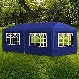 SENLUOWX Cenador de jardín (Polietileno de campaña de recepción Carpa Azul 3x 6m