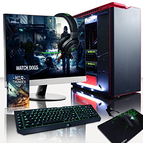 VIBOX Legend 2 PC Gaming Computer con Voucher di Gioco, Windows 10 OS, 27' HD Monitor (4,4GHz AMD Ryzen 6-Core Processore, 2x Dual SLI Nvidia GeForce RTX 2070 Schede Grafiche, 32GB DDR4 RAM, 3TB HDD)