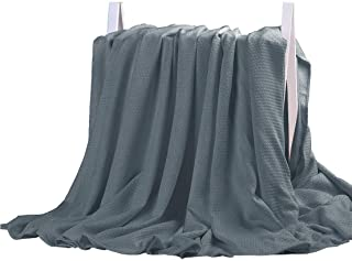 DANGTOP Air Conditioning Cool Blanket with Bamboo Microfiber- All Seasons Thin Quilt for Adults and Teens. (79x91 inches, Dark Grey)