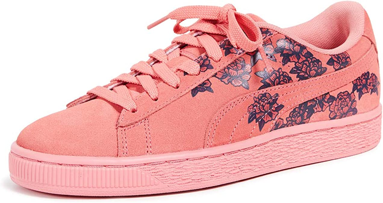 PUMA Women's Suede Classic Basket Floral Sneakers