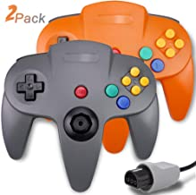 $25 » 2 Packs N64 Controller, King Smart Wired N64 Controllers with Upgraded Joystick for Original Nintendo 64 Console (Gray and...