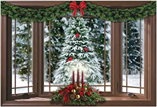Collections Etc Frosted Pine Christmas Window Wall Decal