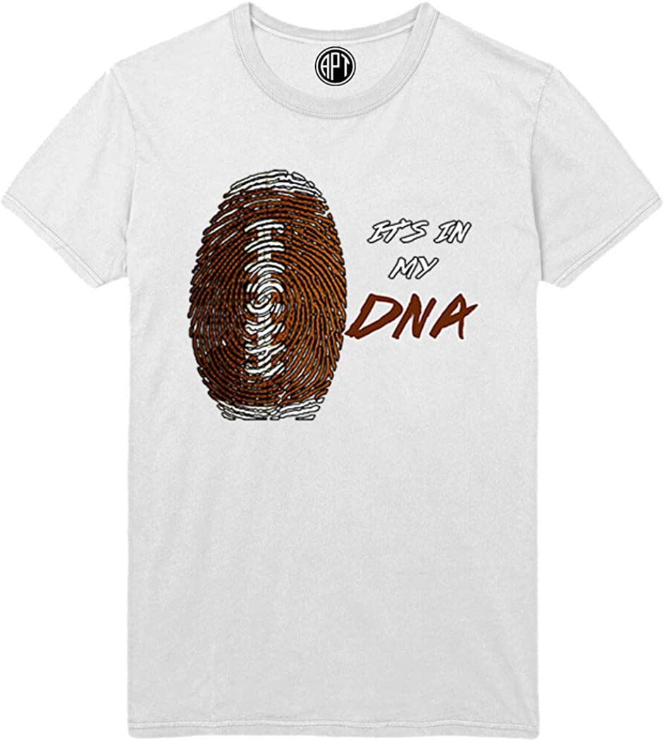 Football It's in My DNA Printed T-Shirt - White - XLT