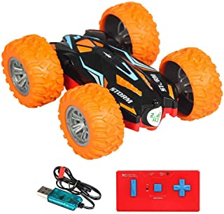 RC Cars For Kids RC Stunt Car Toy For Christmas Gift Truck Double Sided Rotating Tumbling 3D Deformation Dance Car Rechargeable Stunt Car Toy RC Vehicles Kids' Electronics Pre-Kindergarten Toys Hobby