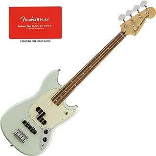 Fender Mustang PJ Bass - Pau Ferro Fingerboard (Sonic Blue) w/Fender Play Prepa