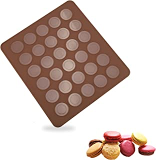 Tapis de Cuisson en Silicone pour Macarons, 30 Capacité Moule a Macaron Plaque à Macarons, 28 x 25cm