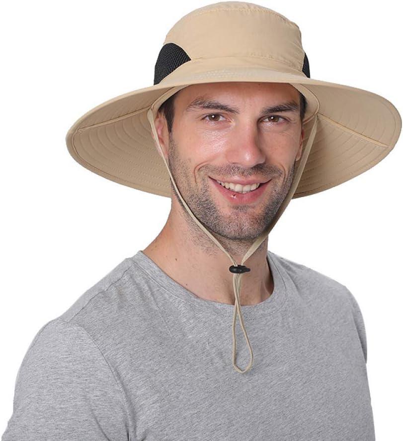 Sombrero de Pescador Transpirable Anti-UV Sombrero de Alpinismo Parasol Xme Sombrero de Pesca Protector Solar Plegable