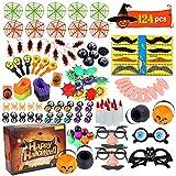 ThinkMax 124 Pack Halloween Party Spielzeug für Kinder, Neuheit Spielzeug für Halloween Goodie Bag...