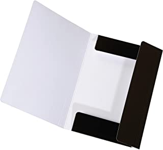 Original Falken LongLife Portfolio Folder Made of Extra Strong Cardboard with 3 Flaps and Elastic Strap for DIN A3 Black S...