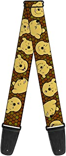 Buckle-Down 2 Inches Wide Guitar Strap - Winnie the Pooh Expressions/Honeycomb Black/Browns (GS-WDY273)