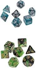 MagiDeal 2X 7pcs Polyhedral Dices D20 D12 D10 D8 D6 D4 Dies for Warhammer 40K DND D&D