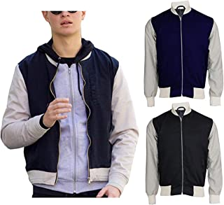 KAAZEE Dress UP for a Thrilling Ride with This Famous Baby Driver Ansel Elgort Lightweight Varsity Leterman Bomber Jacket