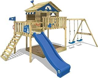 WICKEY Parque infantil de madera Smart Coast con columpio y