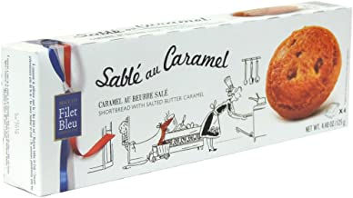 Filet Bleu - Sable au Caramel - Shortbread with Salted Butter Caramel - 125g