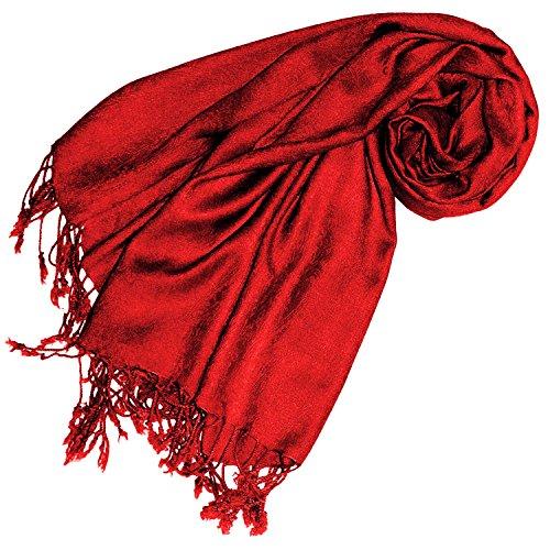 Lorenzo Cana Designer Pashmina hochwertiger Marken-Schal jacquard gewebtes Paisley Muster 60 x 200 cm Viskose harmonische Farben Schaltuch Schal Tuch