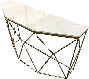 Table De Console en Marbre De Villa, Lampe De Table De Salon De Chambre à Coucher Table D'appoint Durable Ferme Taille du