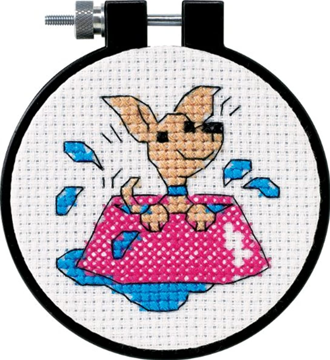 Learn-A-Craft Perky Puppy Counted Cross Stitch Kit-3