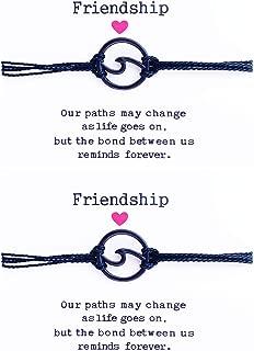 2pcs Wave Friendship Bracelet for Women Braided Rope Bracelet SetHandmade Adjustable BFF Bohemian Bracelet Handcrafted Jewelry