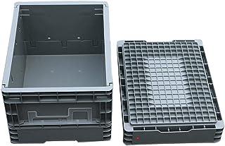 Rangement Pliables En Plastique Ultra Résistantes 2 PACK Heavy Duty & Pliable En Plastique Empilable Lait Caisse Pliable B...