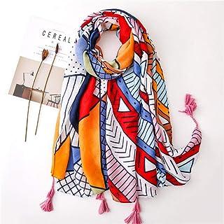 Schal Damen Bedruckte Schal Mode Kopftuch Baumwolle Leinen Schal Frauen Vielseitige Seide Schals Decke