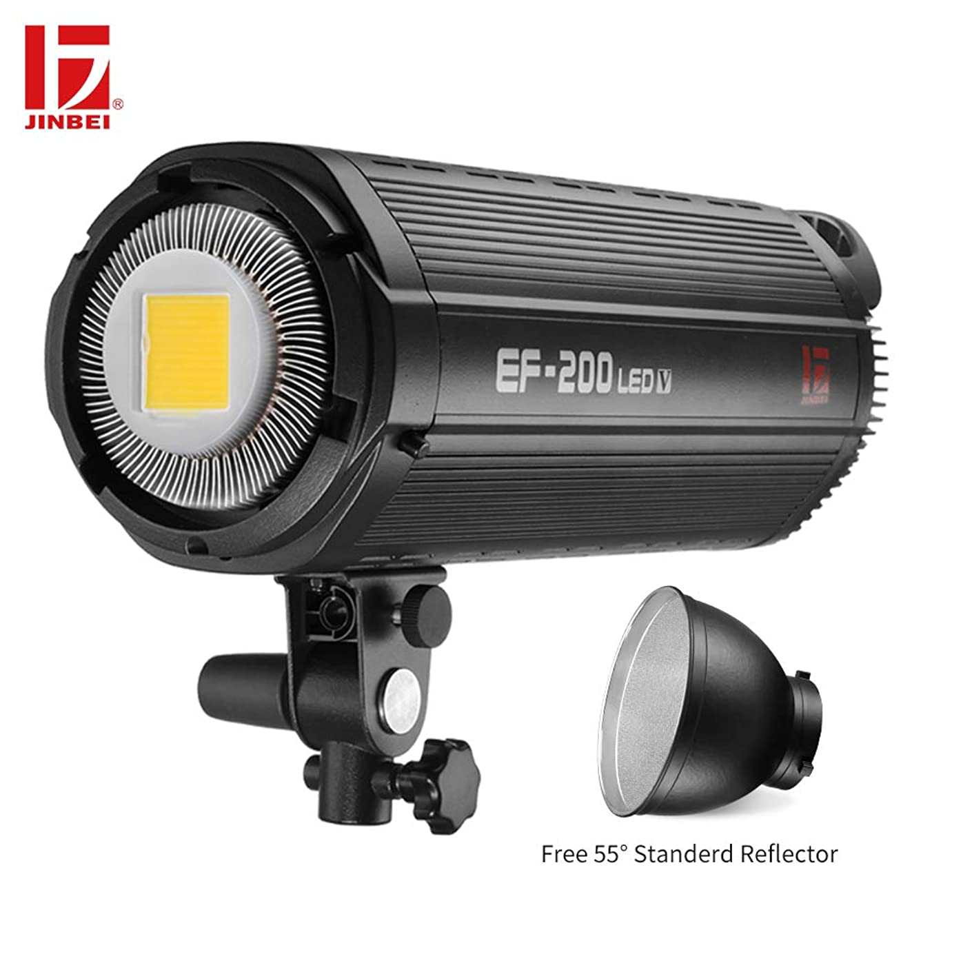 JINBEI EF-200 200Ws Dimmable LED Video Light Continuous Lamp with Bowens Mount Daylight Balanced Video Light 5500K for YouTube Vine Portrait Photography Video Lighting Studio Interview RA 95+
