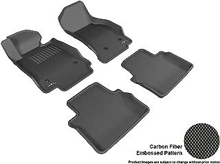3D MAXpider Complete Set Custom Fit All-Weather Floor Mat for Select Cadillac CTS RWD Sedan Models - Kagu Rubber (Black)