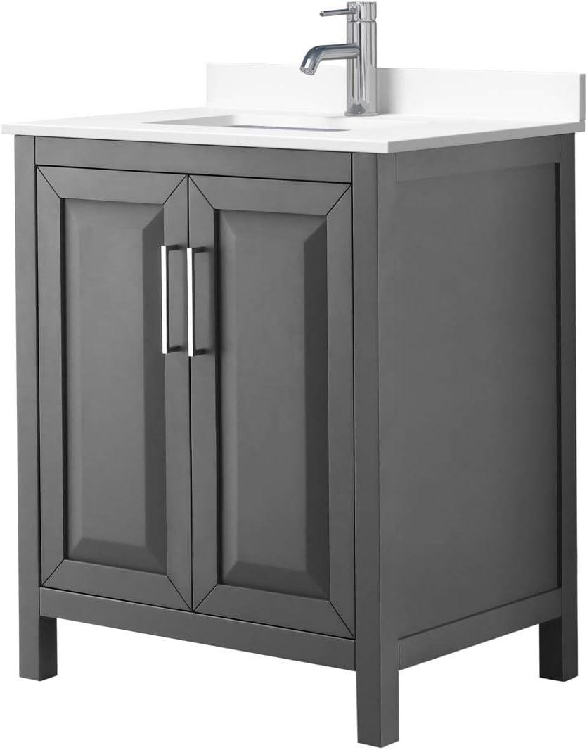 Daria 30 Inch Single Bathroom Vanity White in Gray San Francisco Mall Attention brand Dark Culture