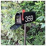 tqj lettere per posta cassetta postale postbox americana metallo mailbox decorativo, retro villa mail box outdoor rain latte giornali di sicurezza, con serratura resistente alle intemperie postbox fuo