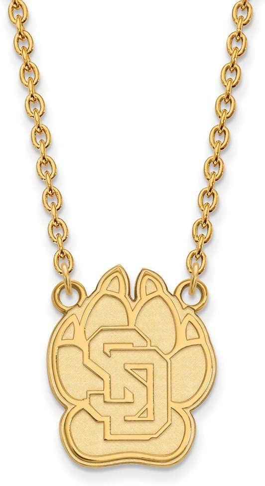 South Dakota Large 3 Max 88% OFF 4 Inch Philadelphia Mall Gold w Necklace Plated Pendant