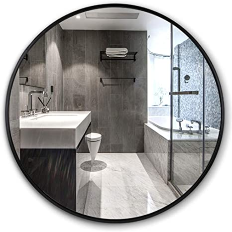 Amazon Com Wall Mirrors Wall Mirror With Metal Frame 30cm Round Vanity Mirror Large Circle Shave Shower Decorative Makeup Mirror For Bathroom Entry Dining Room Living Room And More Vanity Bathroom Home Kitchen