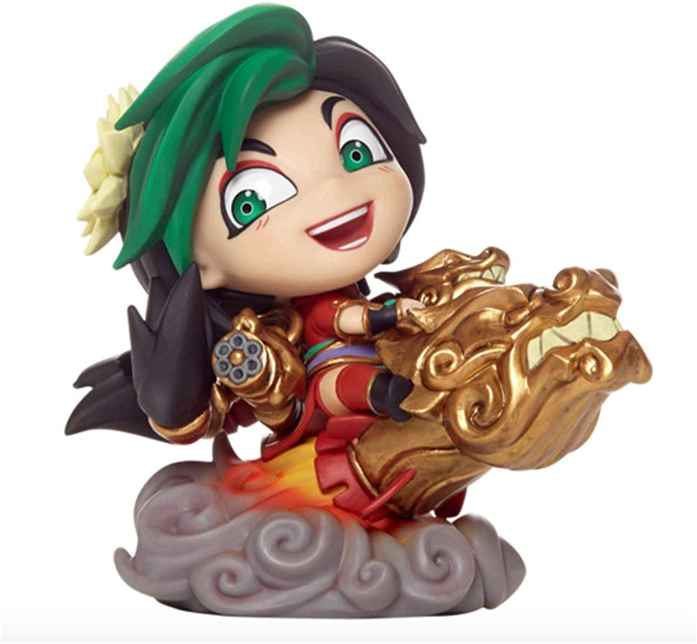 LIYONG Anime giocattolo modello modello Gioco Hero League Character autotoon Q edizione Jinx Decoration Souvenir Collectibles Crafts Gift 10cm