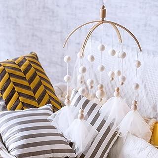 Okawari Home ベッドメリー 木製 ハンドメイド ベビー 北欧風 キッズベッドメリー ビーズ風鈴 吊り下げ式 赤ちゃんベッドメリー 赤ちゃん ベッド飾り 撮影道具
