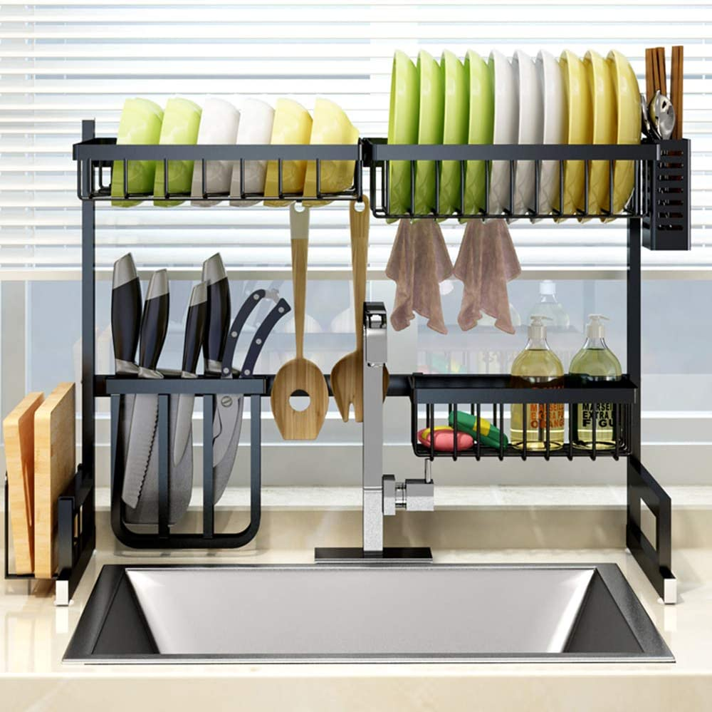 ZXMOTO Dish Drying Rack Max 56% OFF Over Kitchen Counter mart Sink Shelf Drainer