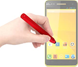 DURAGADGET Handy Aluminium Touch Screen Art Stylus Pen in Red with Smooth Rubber Tip - Suitable for Wiko Rainbow/Highway/Getaway