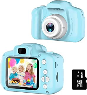 Kids Camera for Girls or Boys - Anti-Drop Kid Digital Camera with Soft Silicone Shell and 8 Mega Pixel Dual Lens 2.0 inch ...