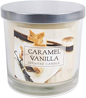 DII Home Traditions 3-Wick Evenly Burning Highly Scented 4x4 Large Jar Candle 45+ Hour Burn Time (14.5 oz) - Caramel Vanilla Scent